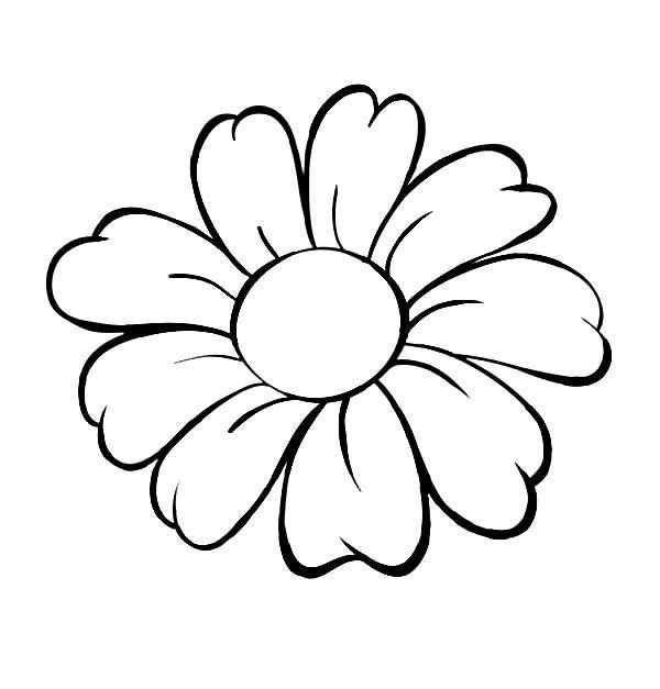 Tranh tô màu bông hoa đáng yêu nhất cho bé gái
