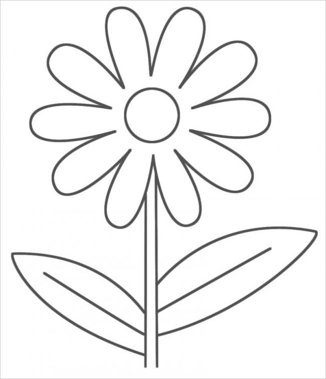 Tranh tô màu bông hoa cơ bản nhất