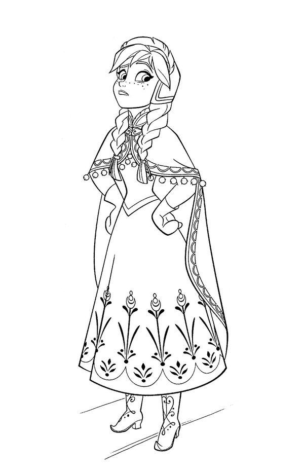 Tranh tô màu công chúa Anna
