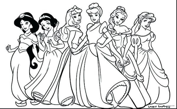 Tranh tô màu các nàng công chúa Disney