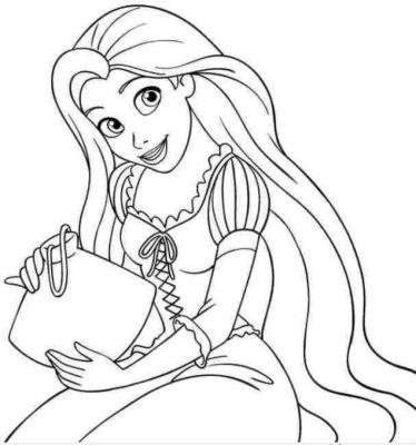 Tranh tô màu công chúa tóc mây