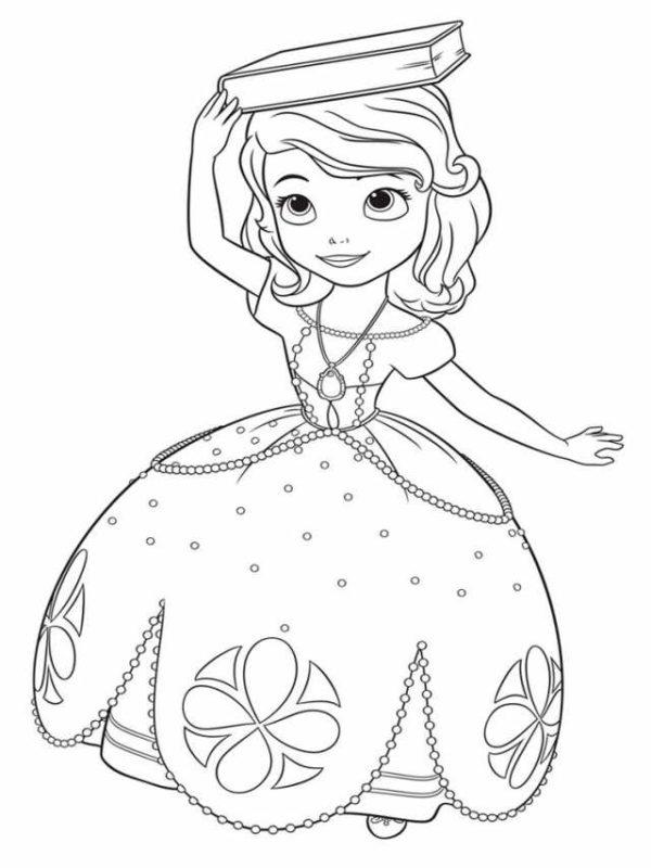 Tranh tô màu công chúa Fiona dễ thương cho bé gái 8 tuổi