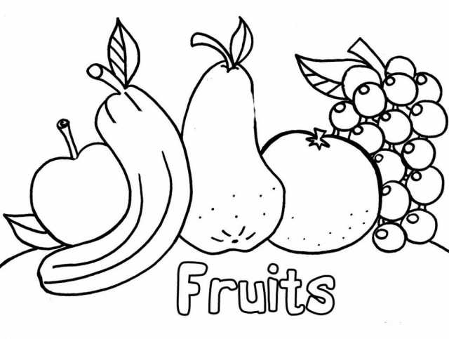 Tranh tô màu trái cây ngộ nghĩnh cho bé gái 8 tuổi