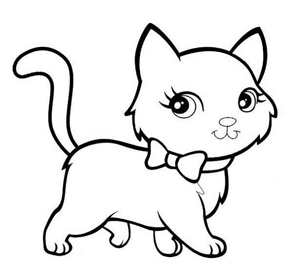 Tranh tô màu mèo con cho bé gái 8 tuổi dễ thương nhất
