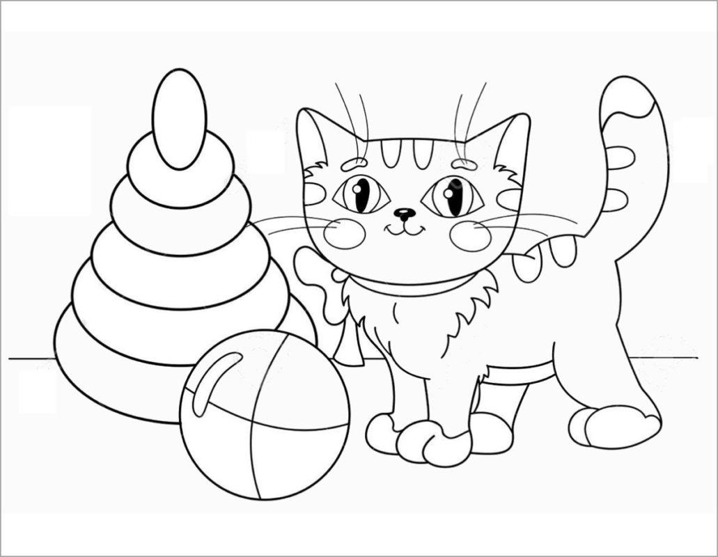 Tranh tô màu con mèo muớp xinh đẹp nhất