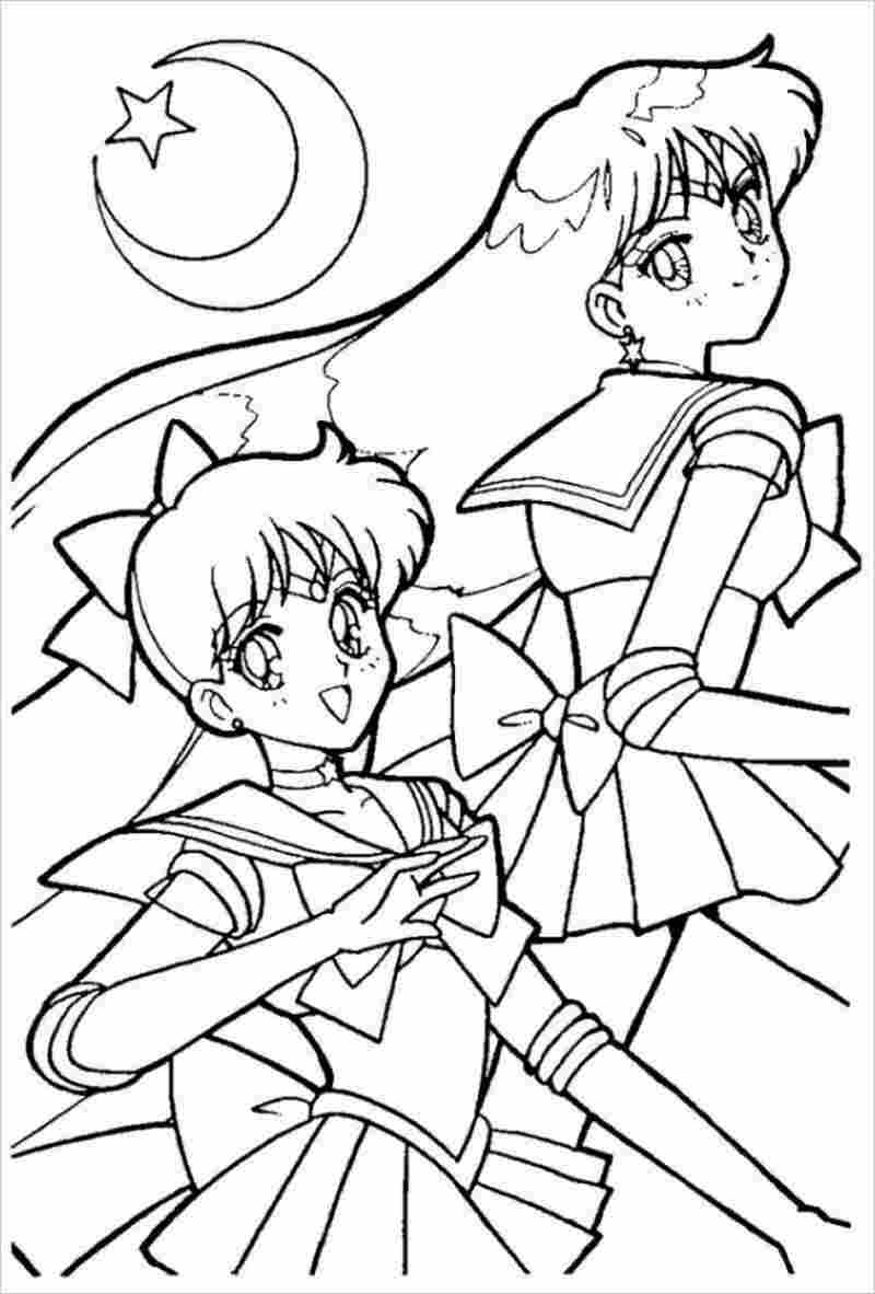 Tranh tô màu các Sailor Moon