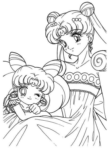 Tranh tô màu Sailor Moon cực dễ thương