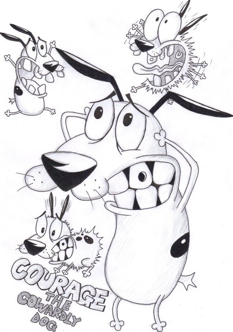 tranh tô màu chú chó ngốc nghêch cartoon network