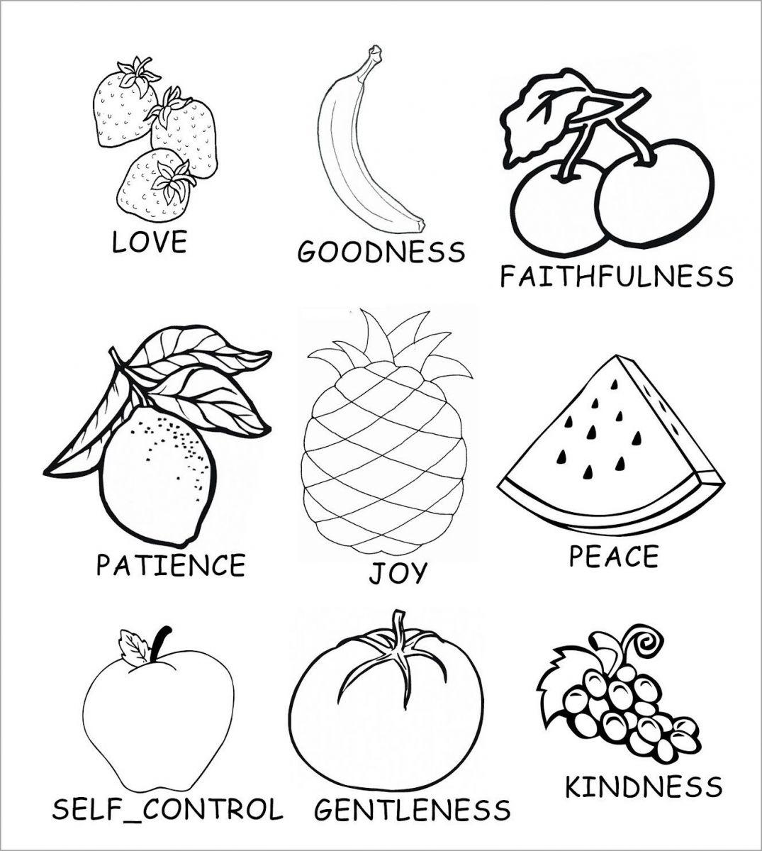 tranh tô màu và học các loại hoa quả cho bé 2+