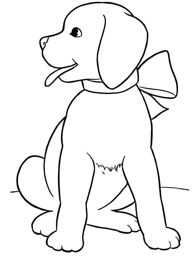 tranh tô màu chú chó cho bé 3 tuổi