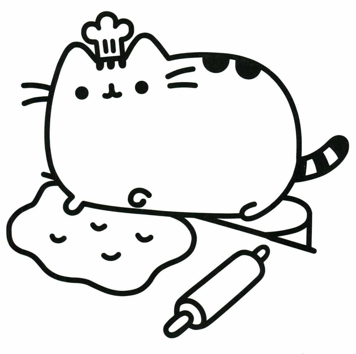 tranh tô màu chú mèo đáng yêu cho bé