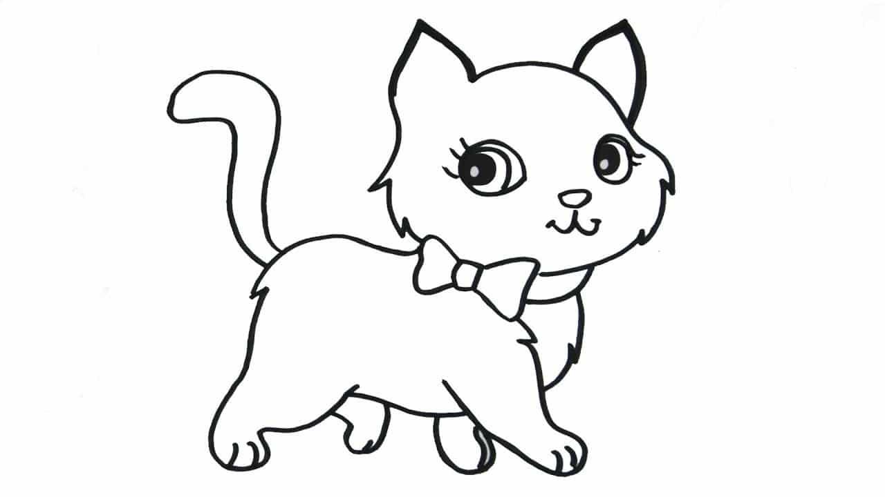tranh tô mèo cho bé mới tập tô