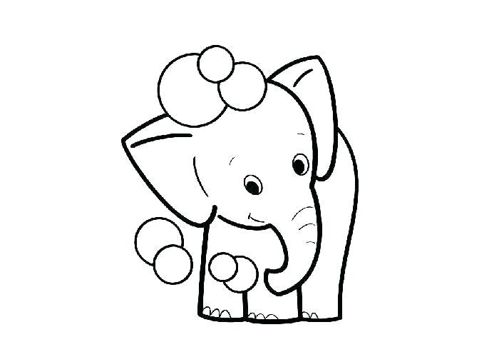 tranh tô màu chú voi ngộ nghĩnh dành cho bé mới tập tô