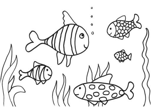 tranh tô màu con cá xinh xắn cho bé