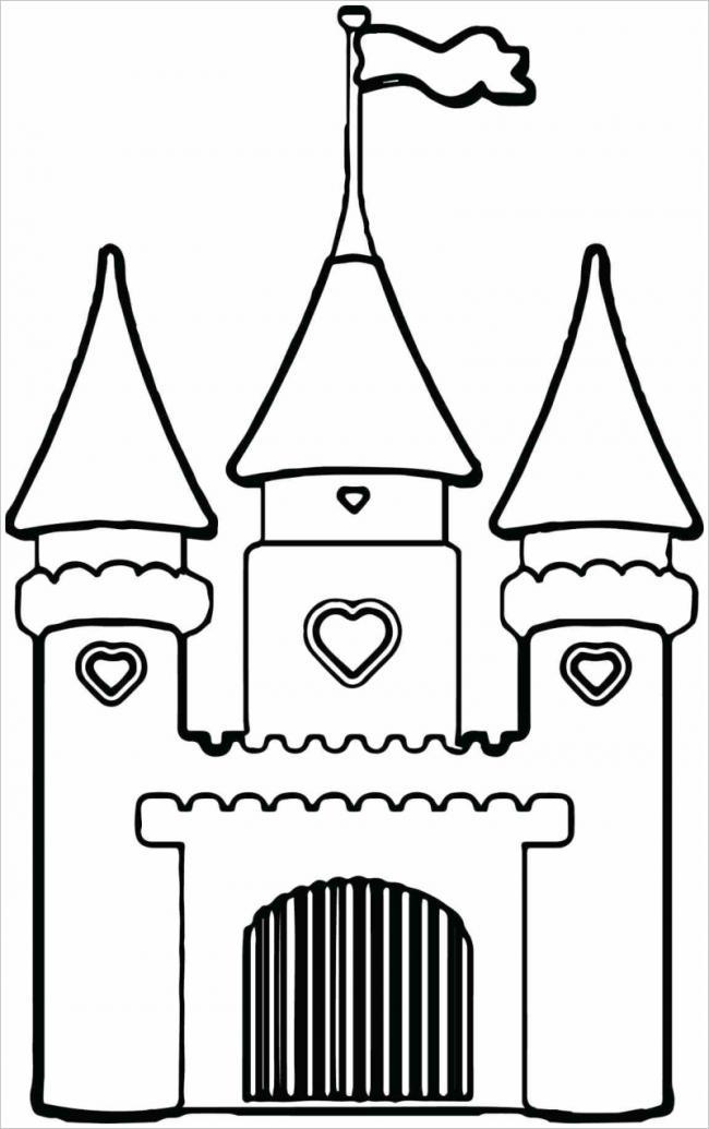 tranh tô màu lâu đài cổ tích ngọt ngào cho bé