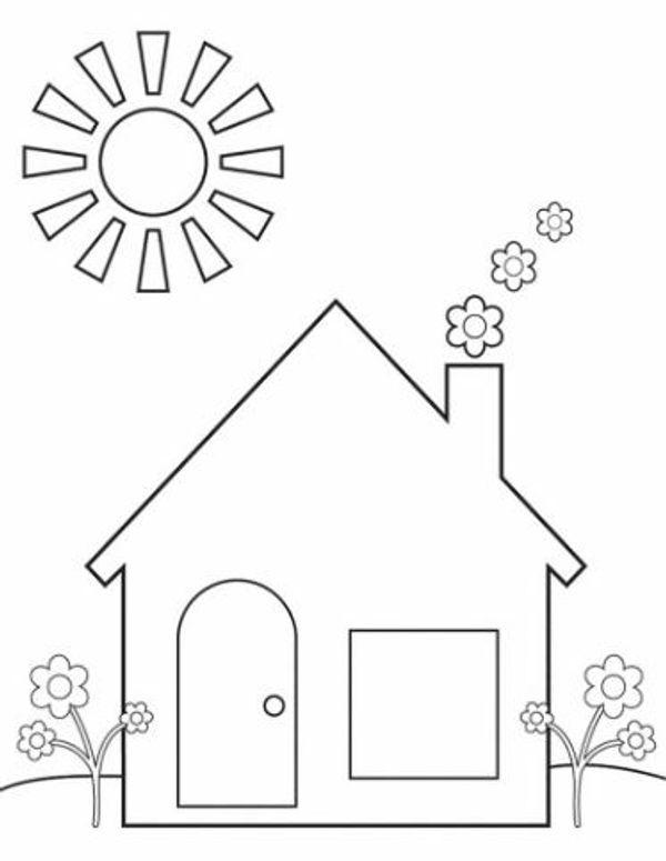 tranh tô màu ngôi nhà dành cho bé 2+